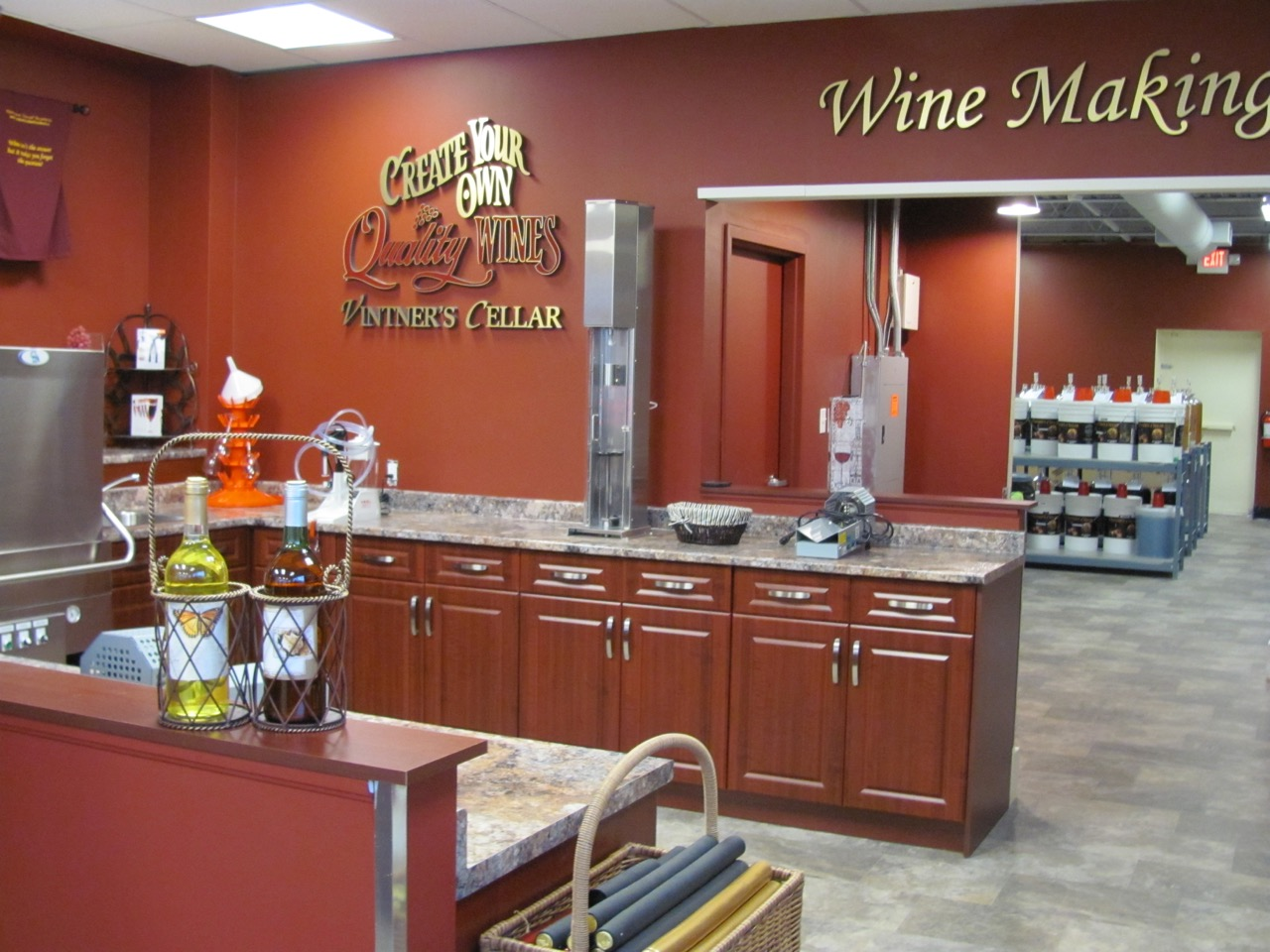 Vintner's Cellar Bottling Area